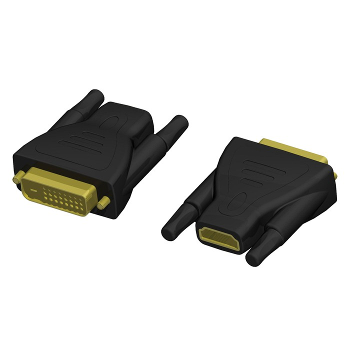 Adapter HDMI 19 female auf DVI 25 male