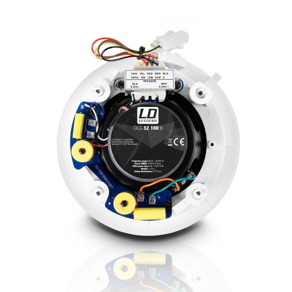 "Contractor CICS 52 100 V 5,25"" 2-Weg-Deckeneinbaulautsprecher, 100 V"