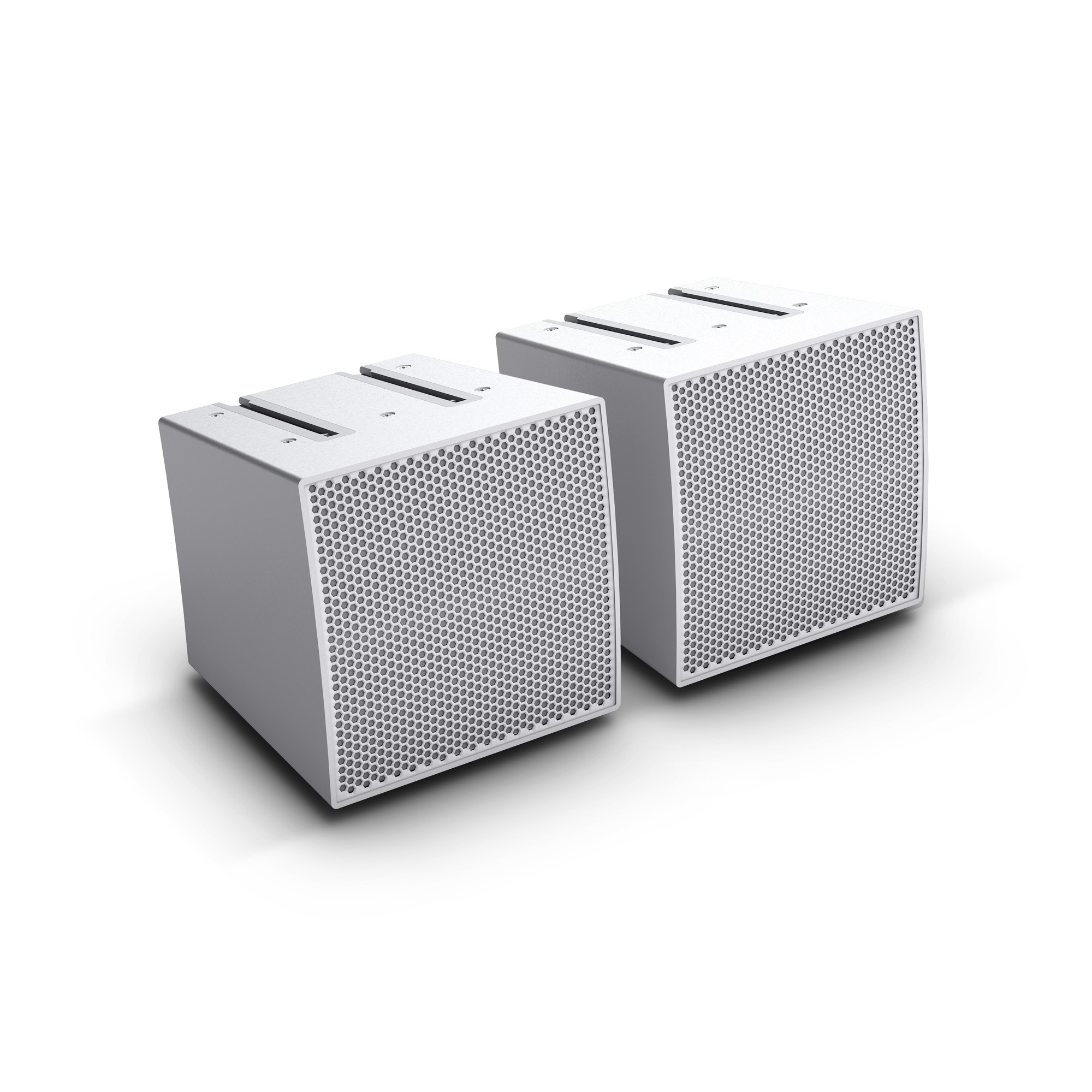 CURV 500 S2 W Two Array satellites for the CURV 500® Portable Array System, white
