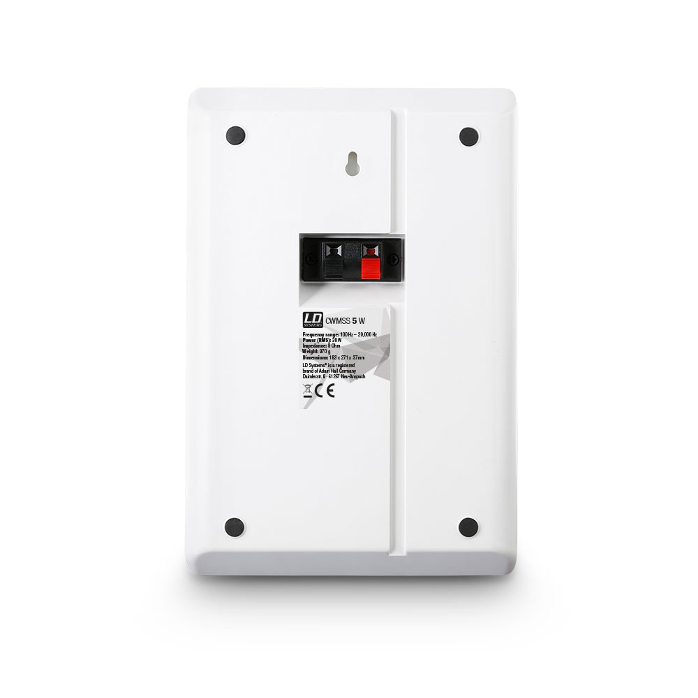 "Contractor CWMSS 5 W 5,25"" 2-Wege-Wandlautsprecher, flach, weiß (Paar)"