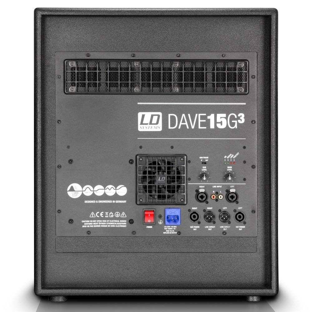 """DAVE 15 G3 Kompaktes 15"""" PA System aktiv"""