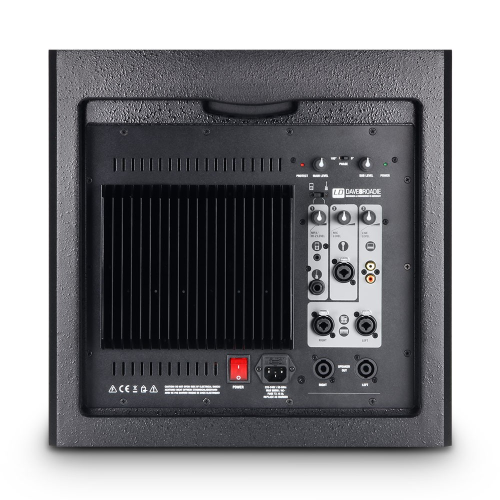DAVE 8 ROADIE Portable active PA system with 3-Channel mixer