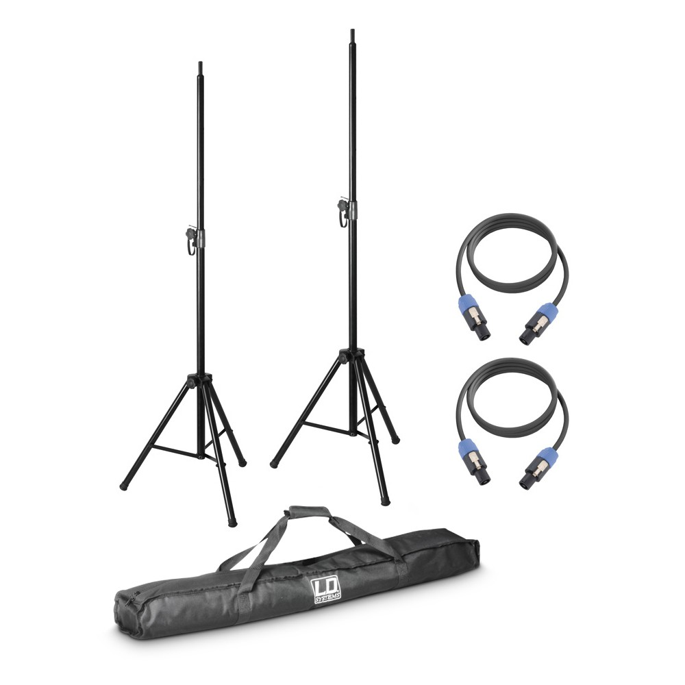 DAVE 8 SET 2 2 x speaker stand with transport bag + 2 x speaker cable 5 m for DAVE 8 systems