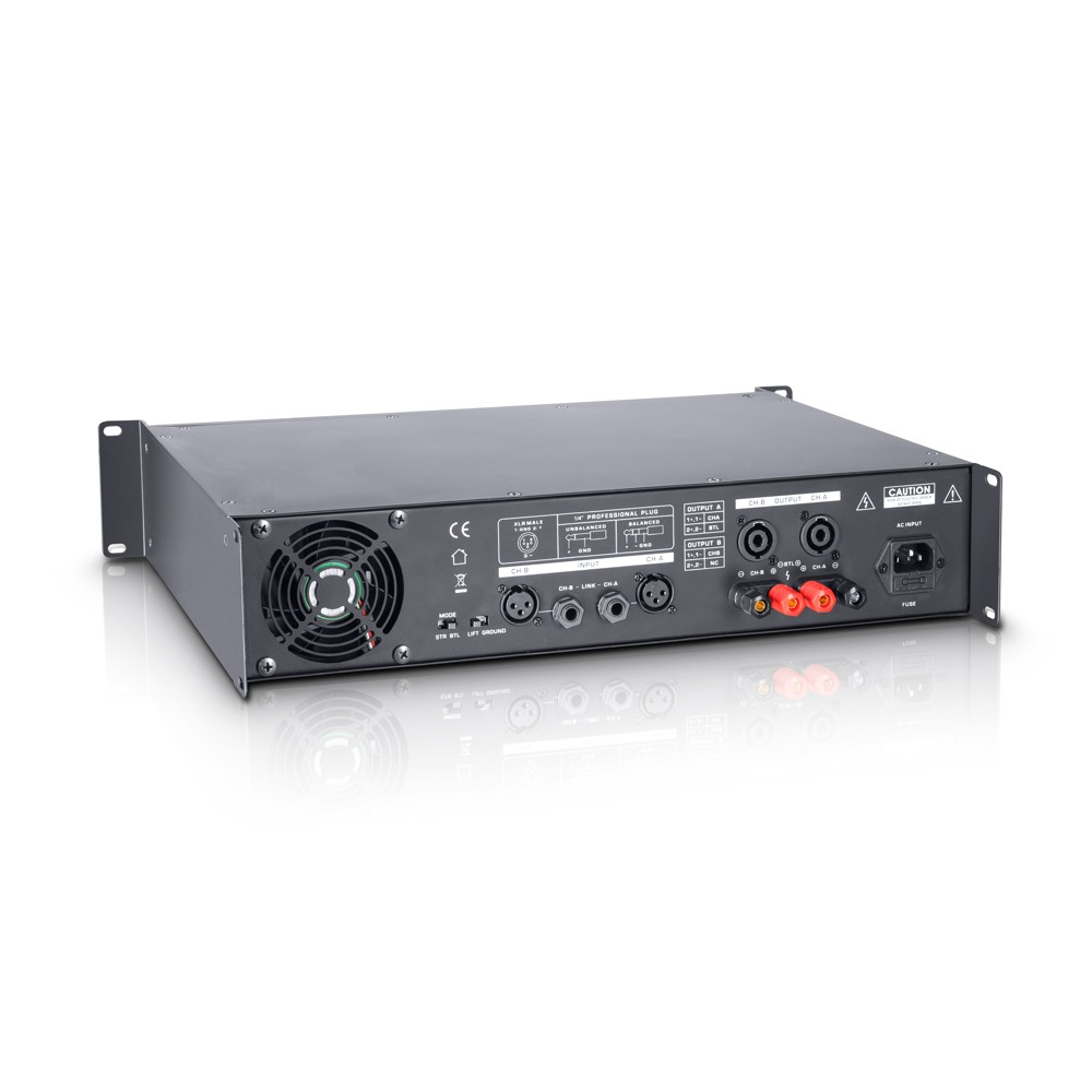 DJ 800 PA Power Amplifier 2 x 400 W 4 Ohms