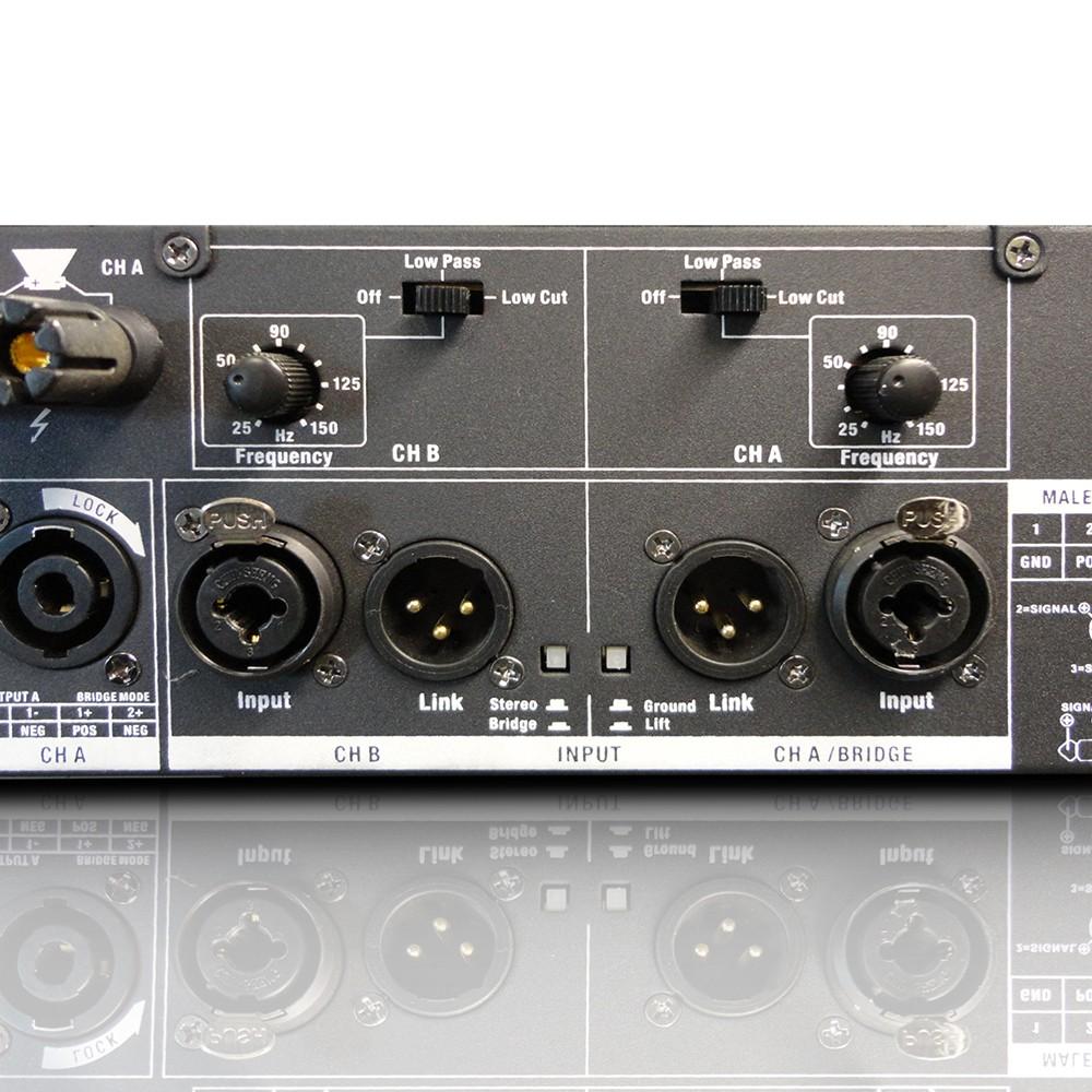DEEP2 2400 X PA Power Amplifier 2 x 1200 W 2 ohm