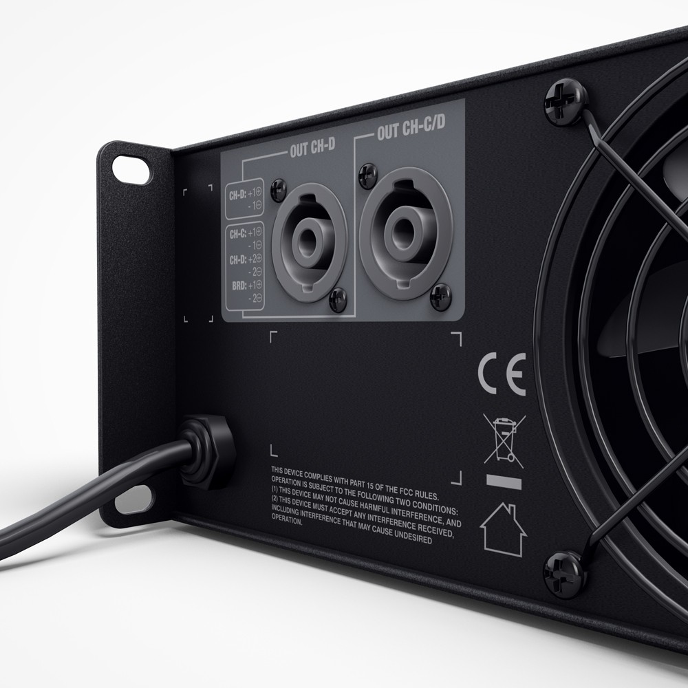 DSP 44 K Amplificador 4 canales DSP con Dante