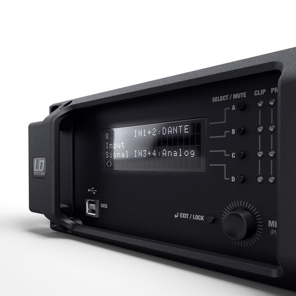 DSP 44 K 4-Kanal DSP Endstufe mit Dante