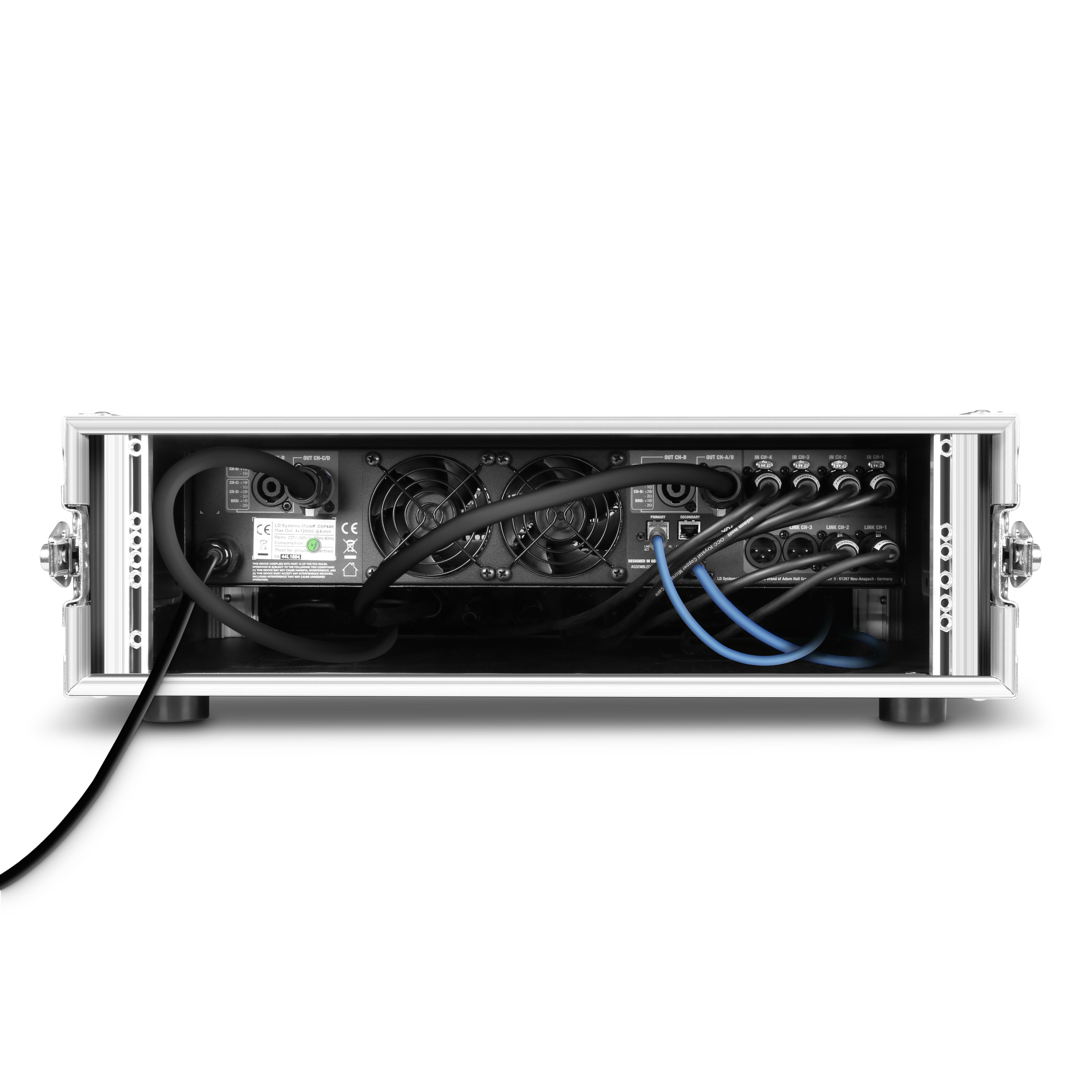 "DSP 44 K RACK 4-Channel Dante™ DSP Power Amplifier and Patchbay in 19""Rack Case"