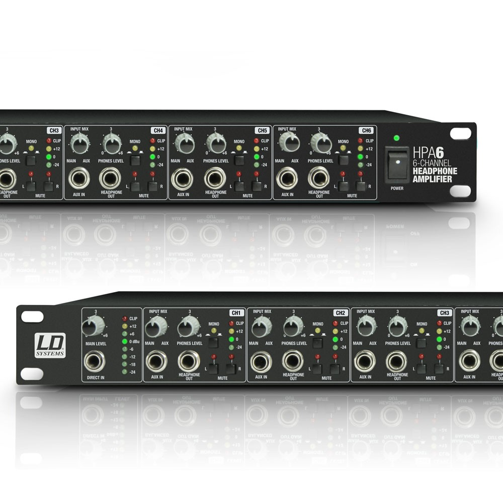"HPA 6 19"" Headphone Amplifier 6-channel"