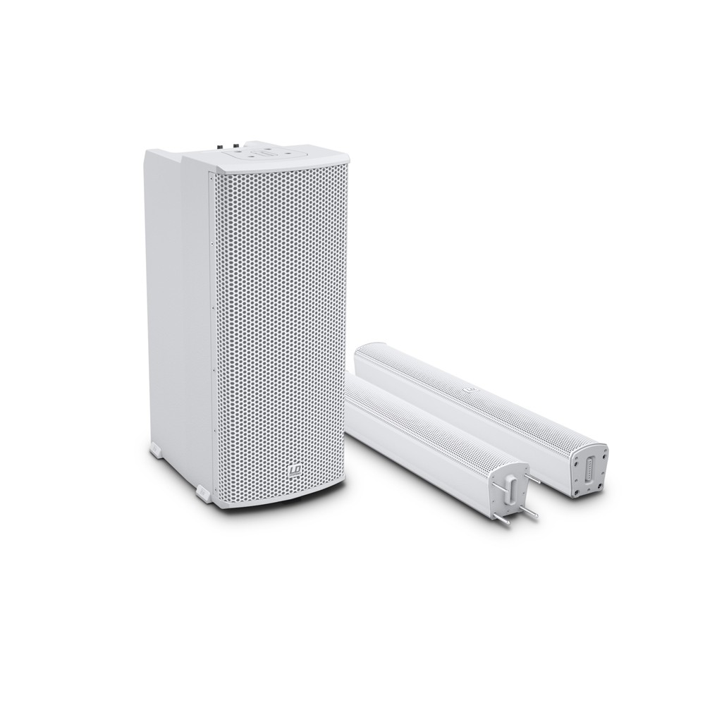 MAUI 11 G2 W Portable Column PA System with Mixer and Bluetooth white