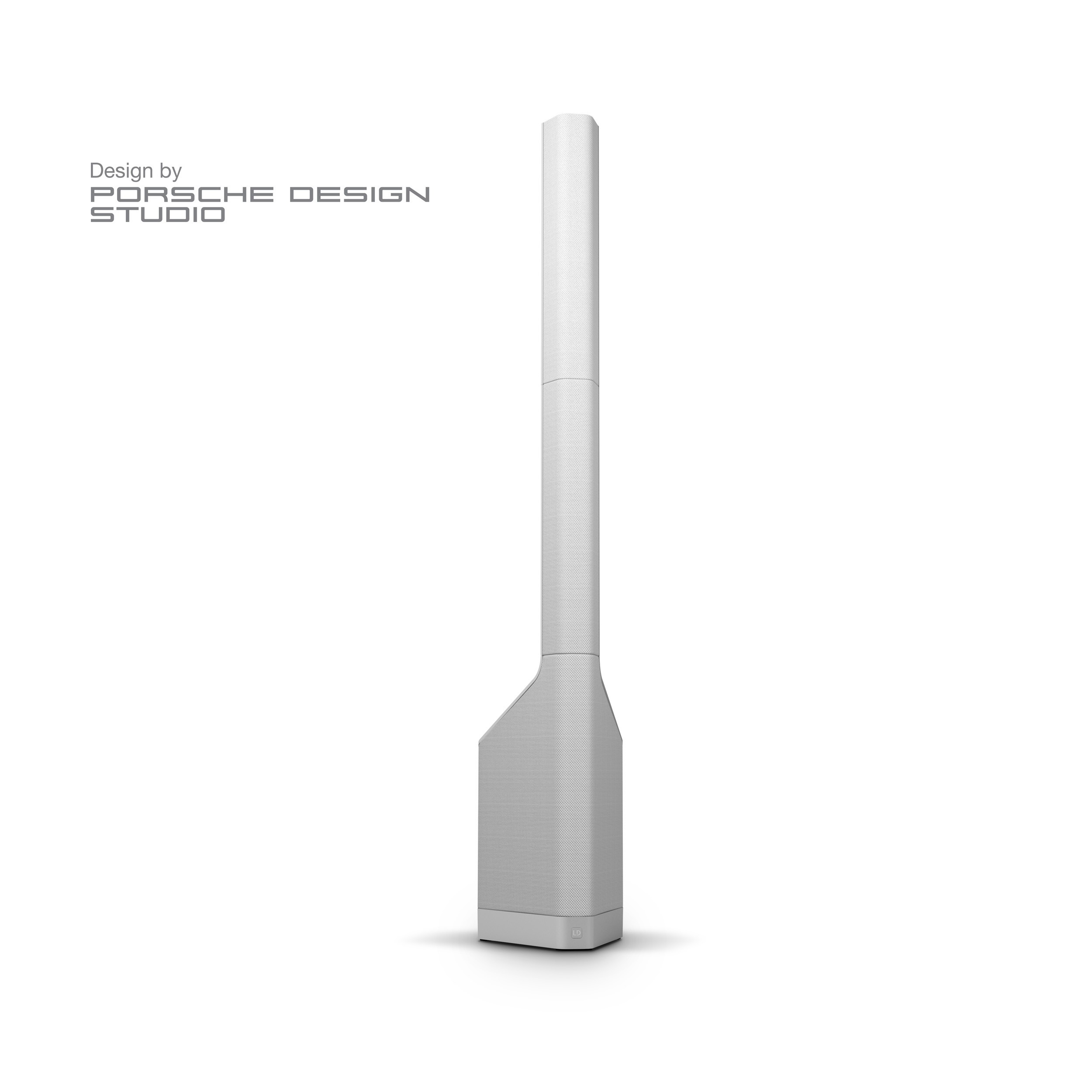 MAUI P900 W Powered Column PA System by Porsche Design Studio in Cocoon White