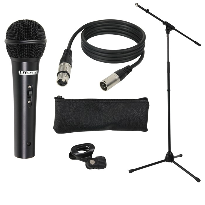 MIC SET 1 Microphone Set with Microphone, Stand, Cable and Clamp