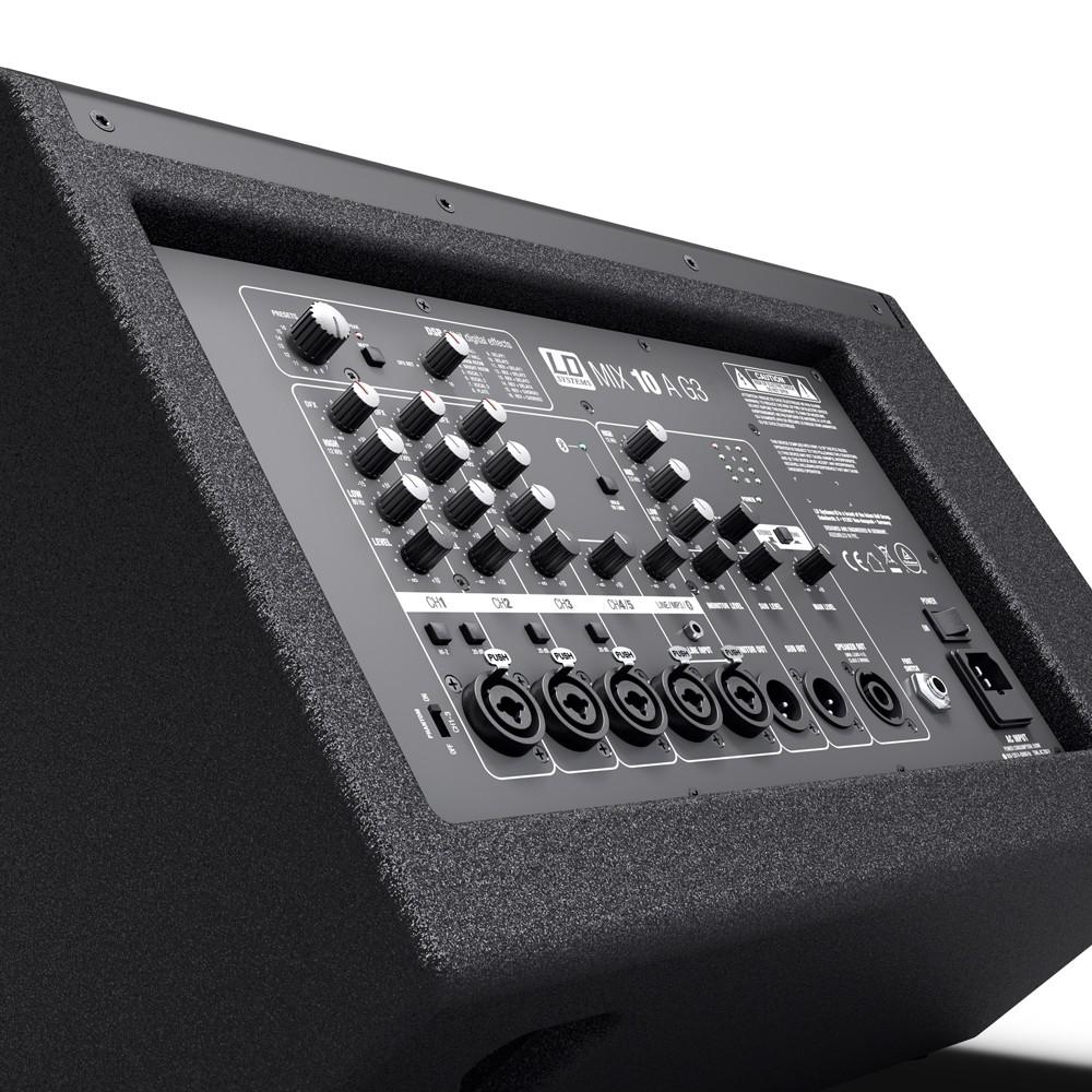 MIX 10 A G3 2-Weg Aktiv-Lautsprecher mit integriertem 7-Kanal-Mixer
