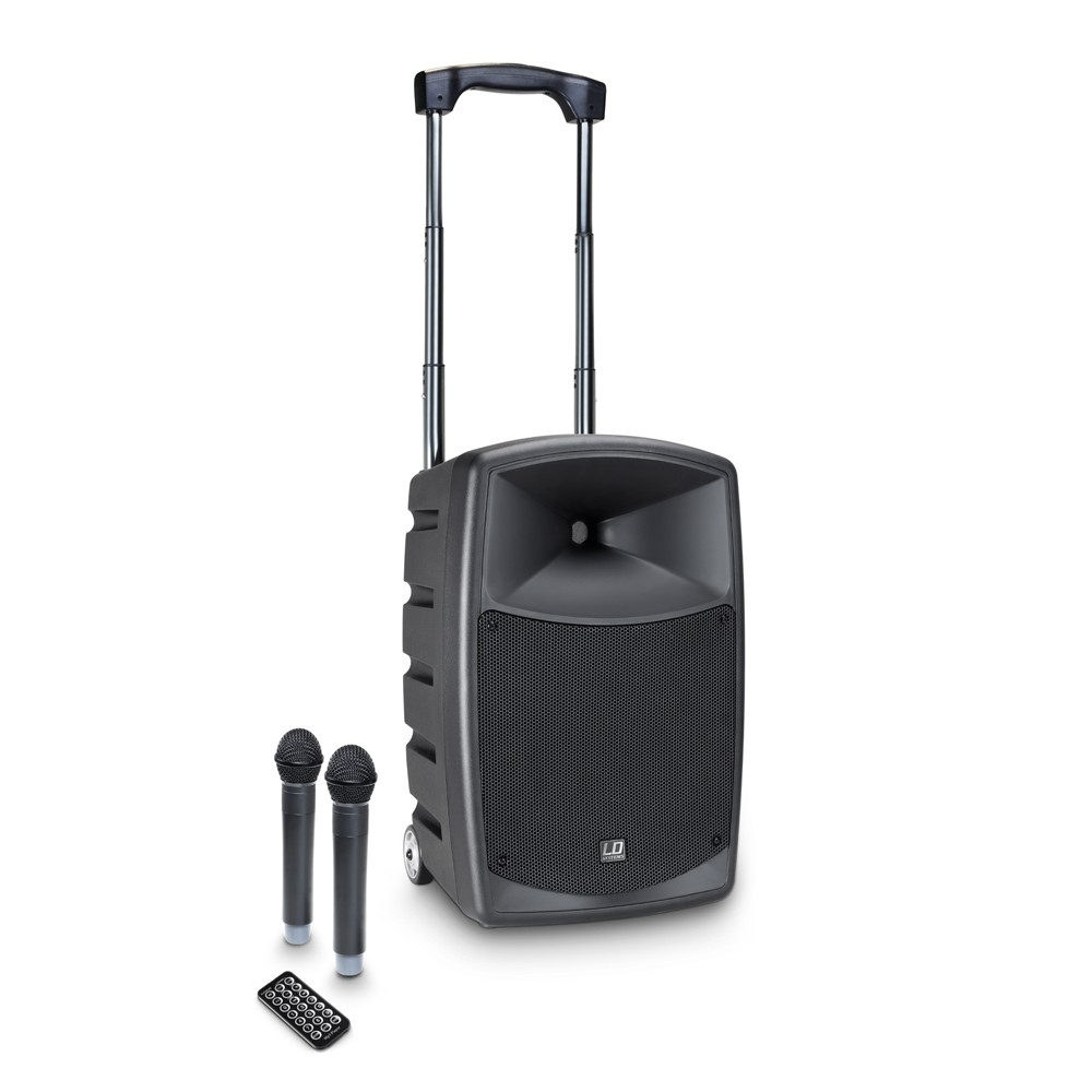 ROADBUDDY 10 HHD 2 B5 Battery-Powered Bluetooth Speaker with Mixer and 2 Wireless Microphones