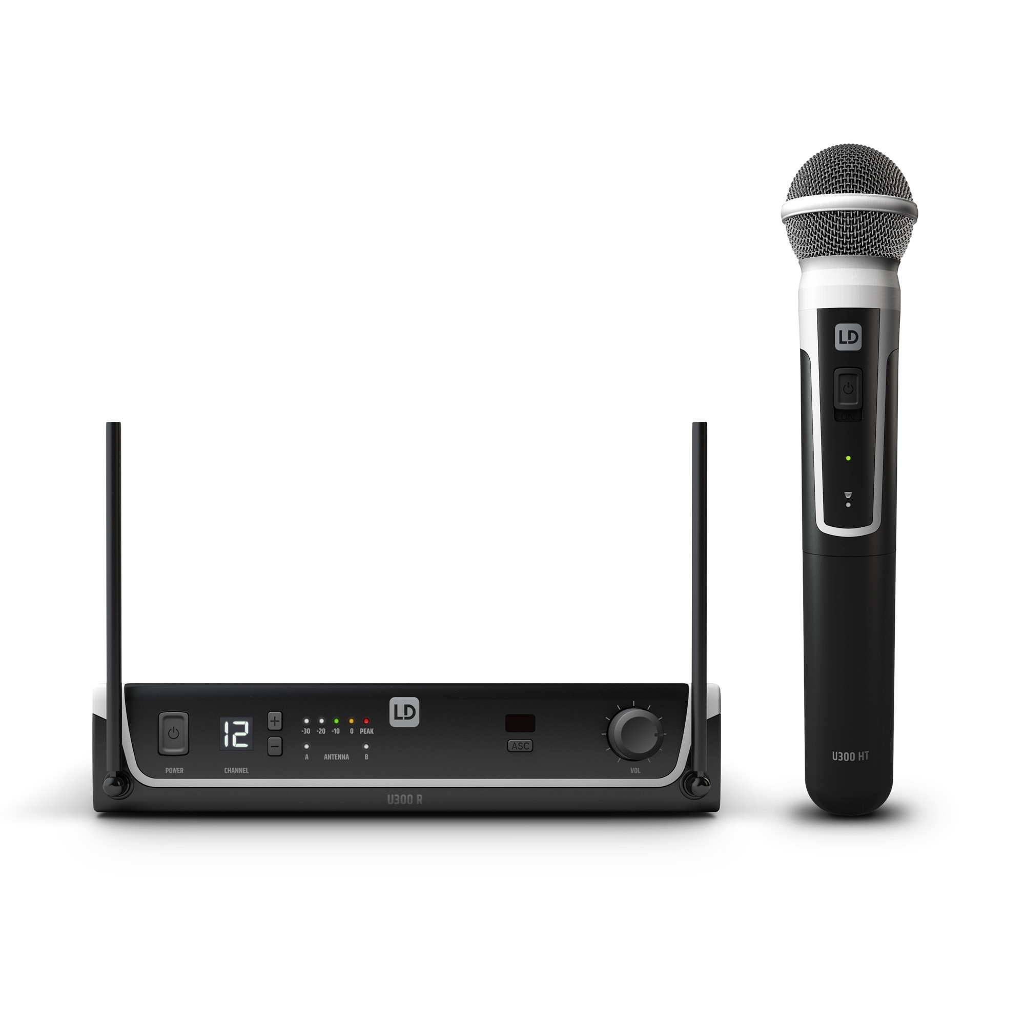 U305 HHD Wireless Microphone System with Dynamic Handheld Microphone