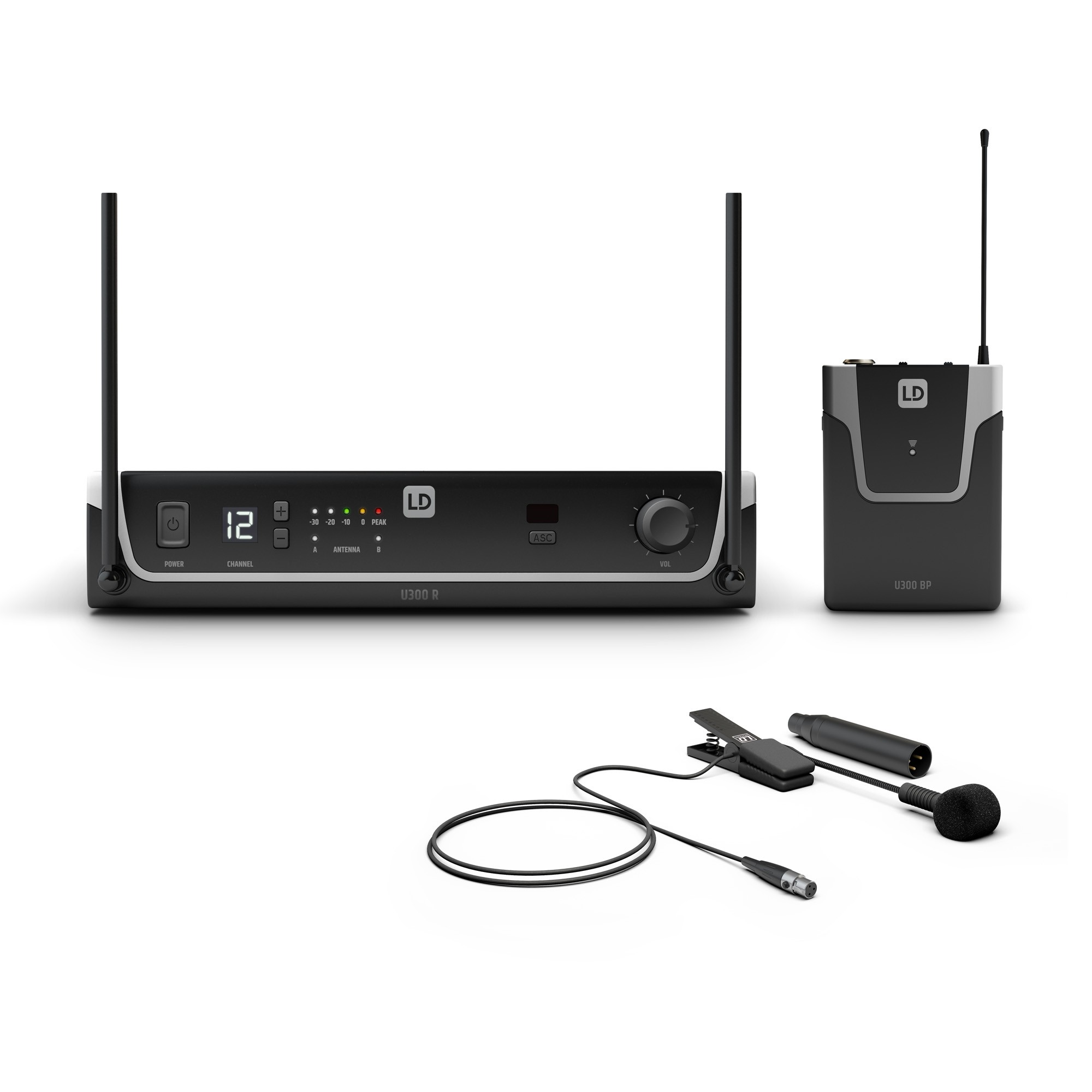 U306 BPW Wireless Microphone System with Bodypack and Brass Instrument Microphone