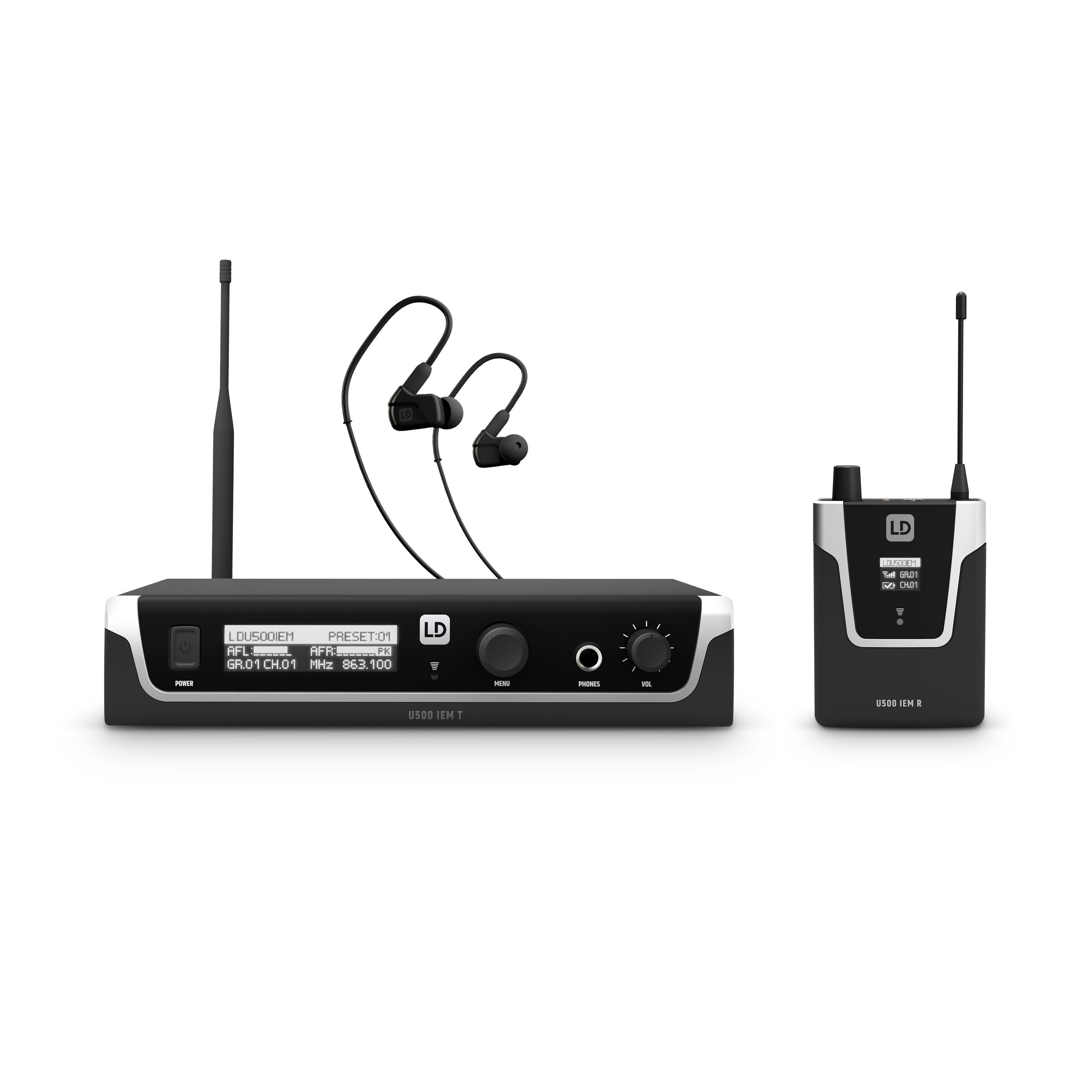 U505.1 IEM HP In-Ear Monitoring-System mit Ohrhörern