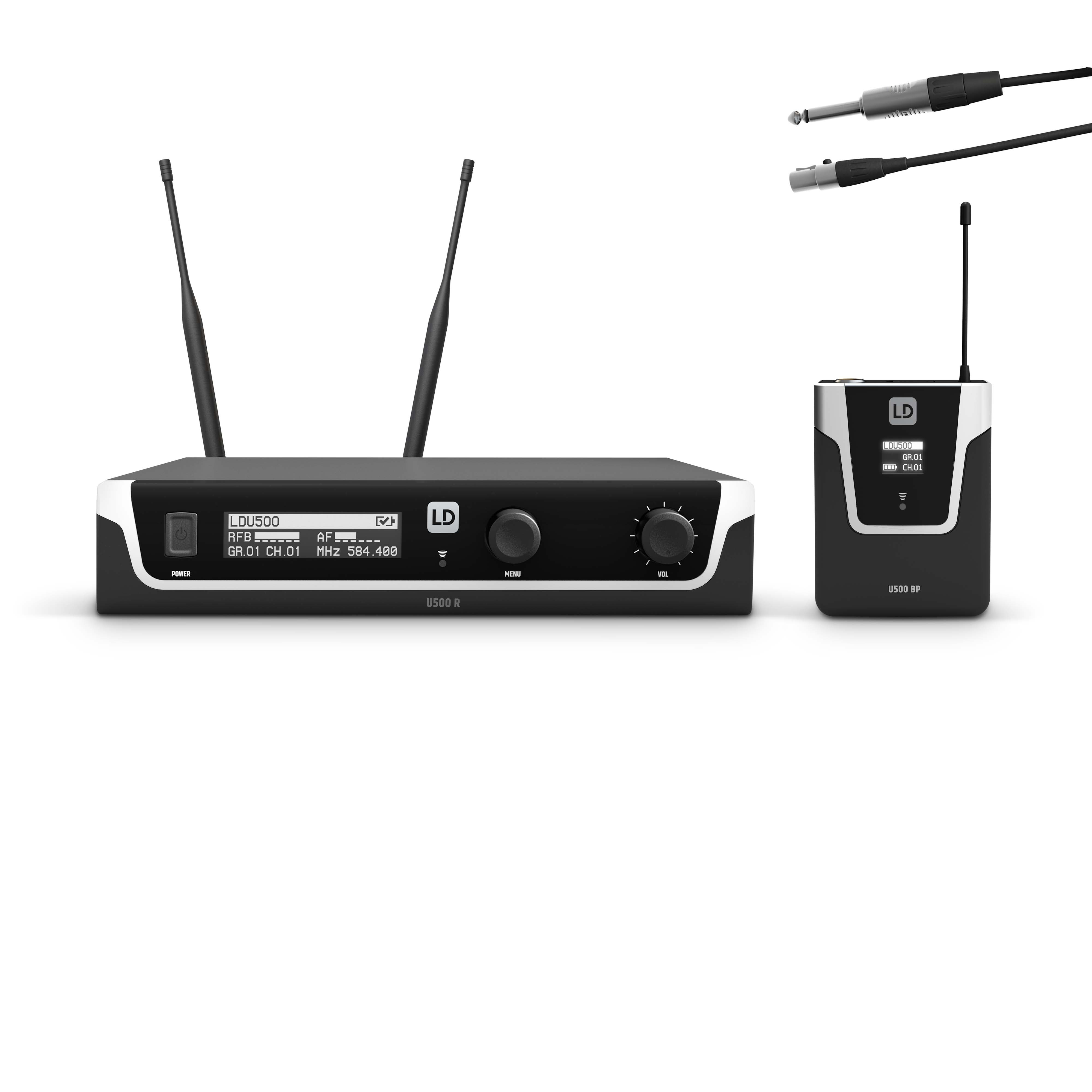 U505 BPG Wireless Microphone System with Bodypack and Guitar Cable