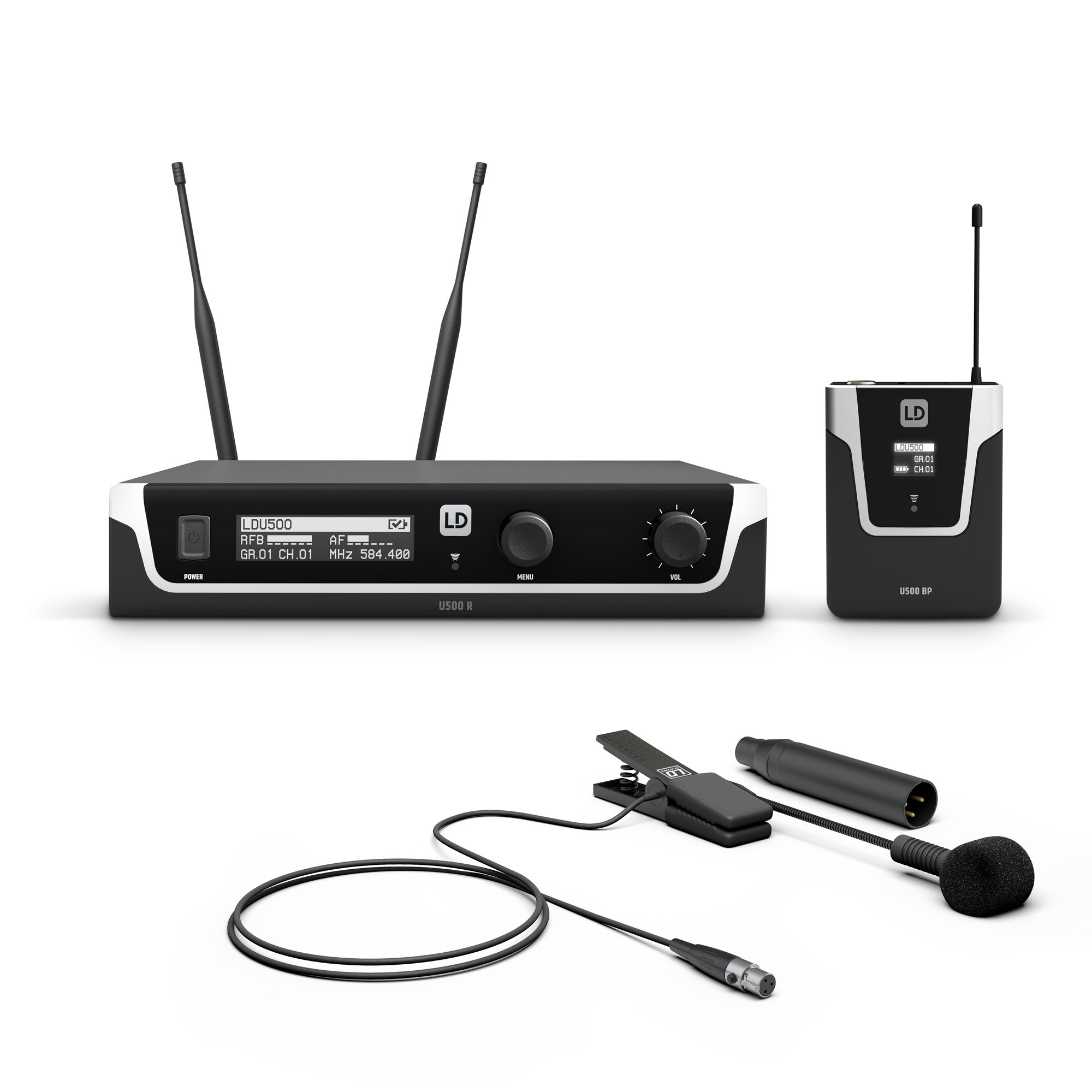 U505 BPW Wireless Microphone System with Bodypack and Brass Instrument Microphone