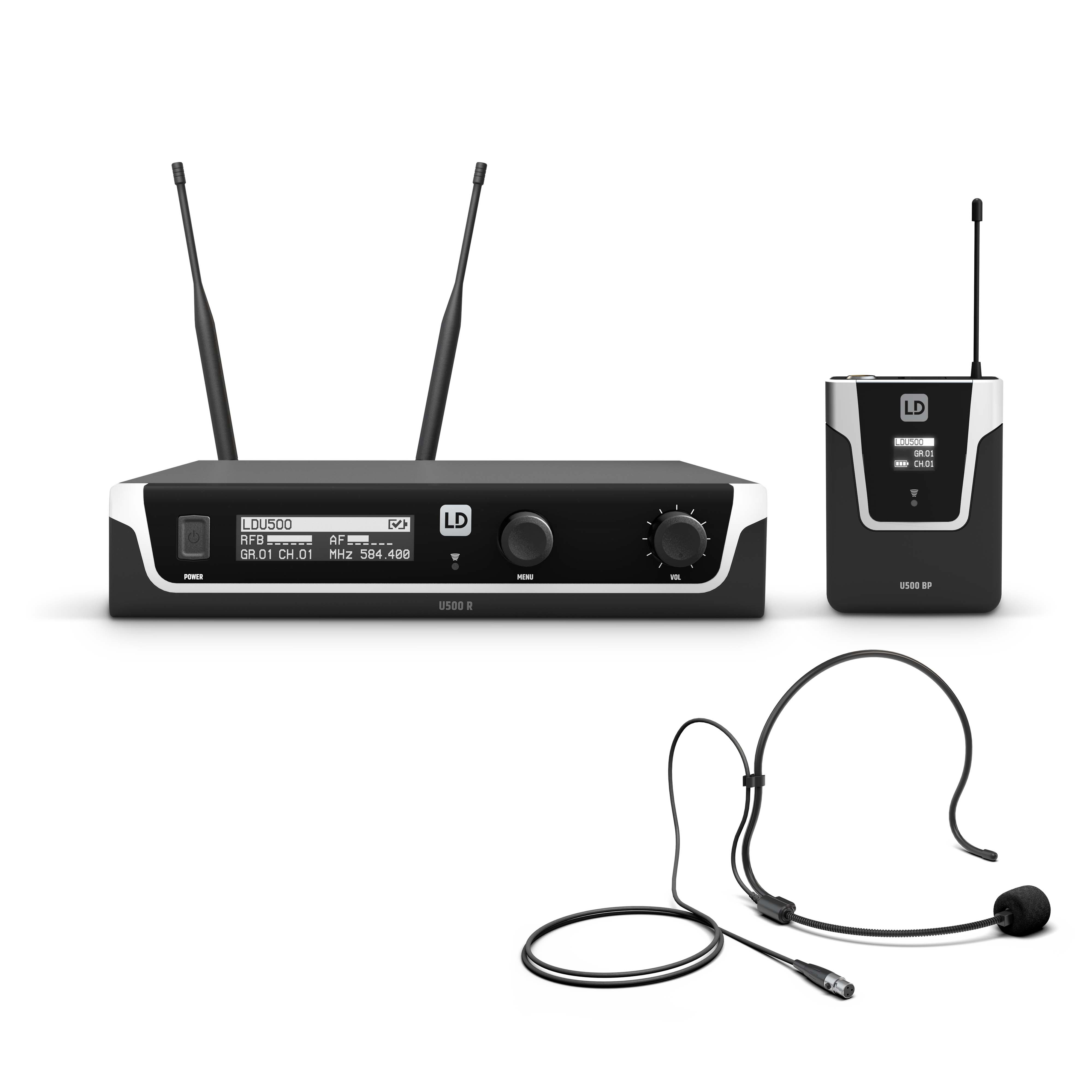 U506 UK BPH Wireless Microphone System with Bodypack and Headset