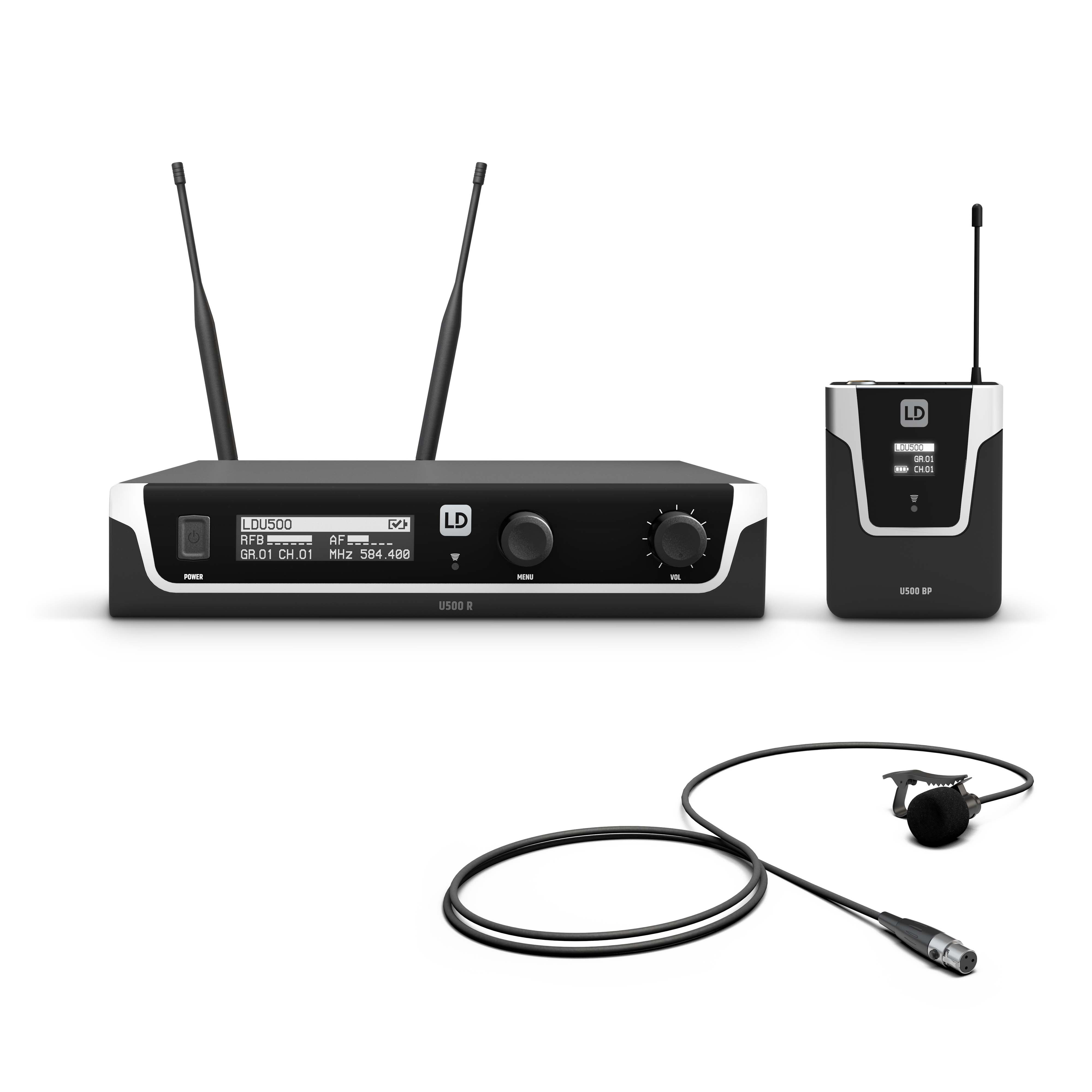 U506 UK BPL Wireless Microphone System with Bodypack and Lavalier Microphone