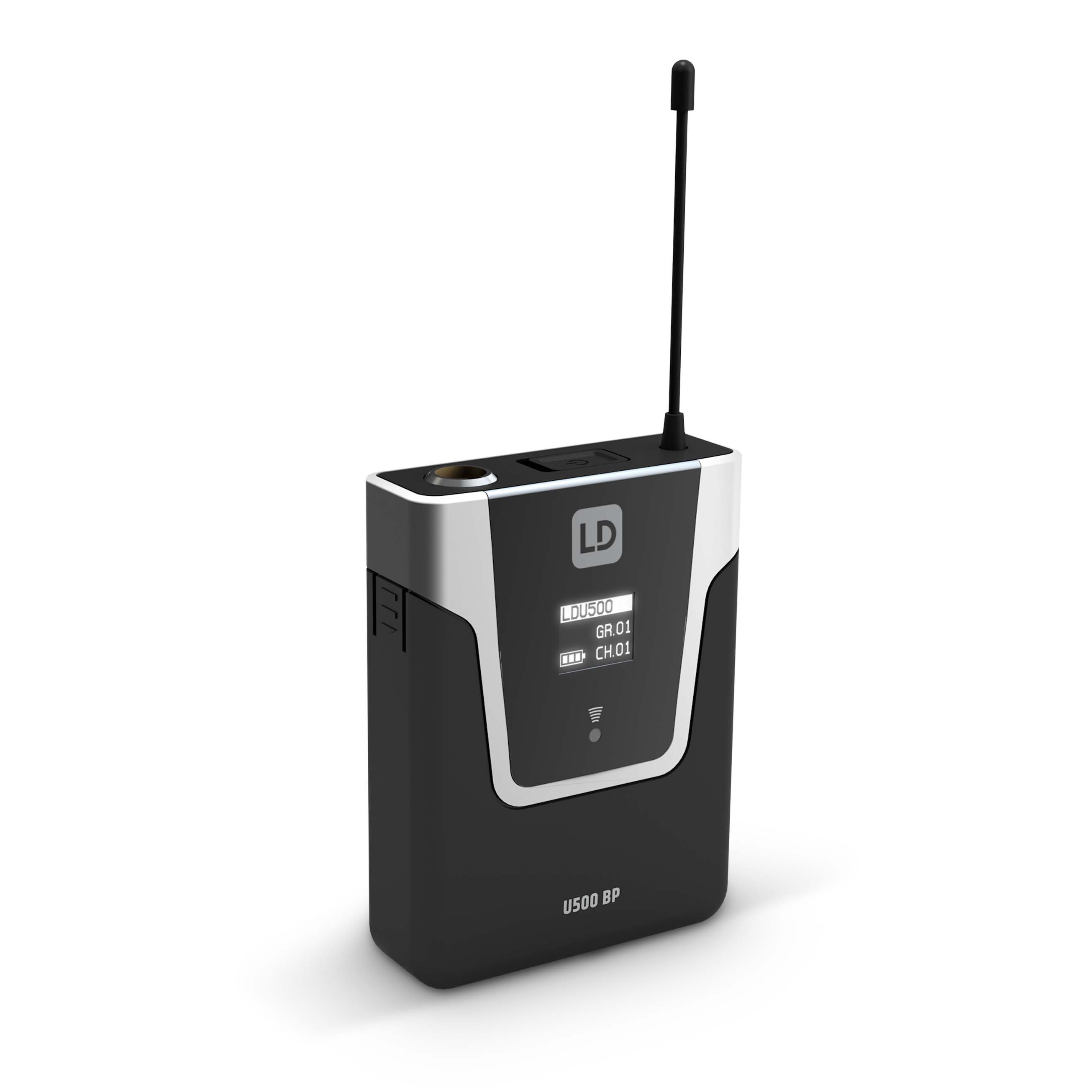 U506 UK HBH 2 Wireless Microphone System with Bodypack, Headset and Dynamic Handheld Microphone