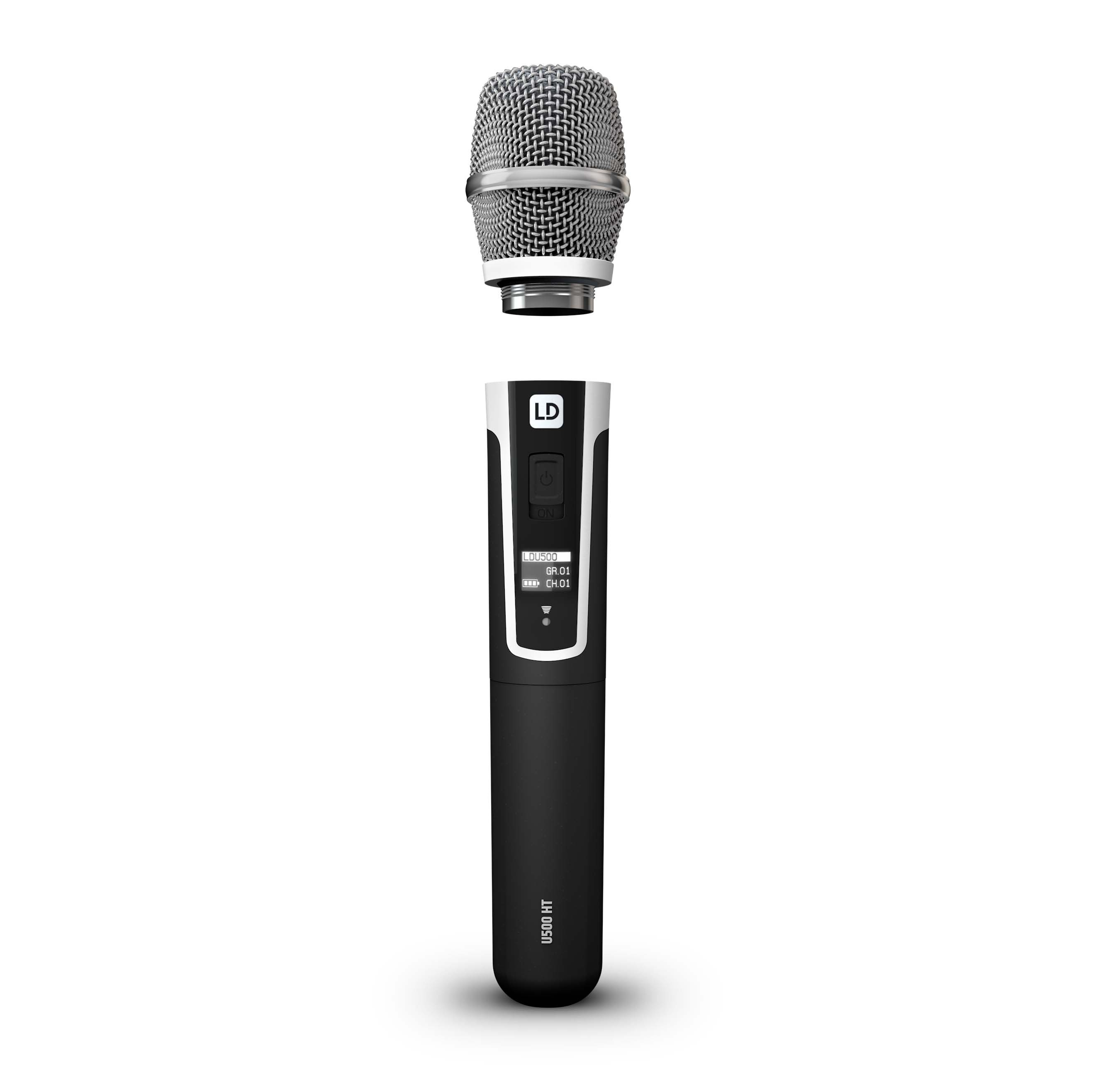 U506 UK HHC 2 Wireless Microphone System with 2 x Condenser Handheld Microphone