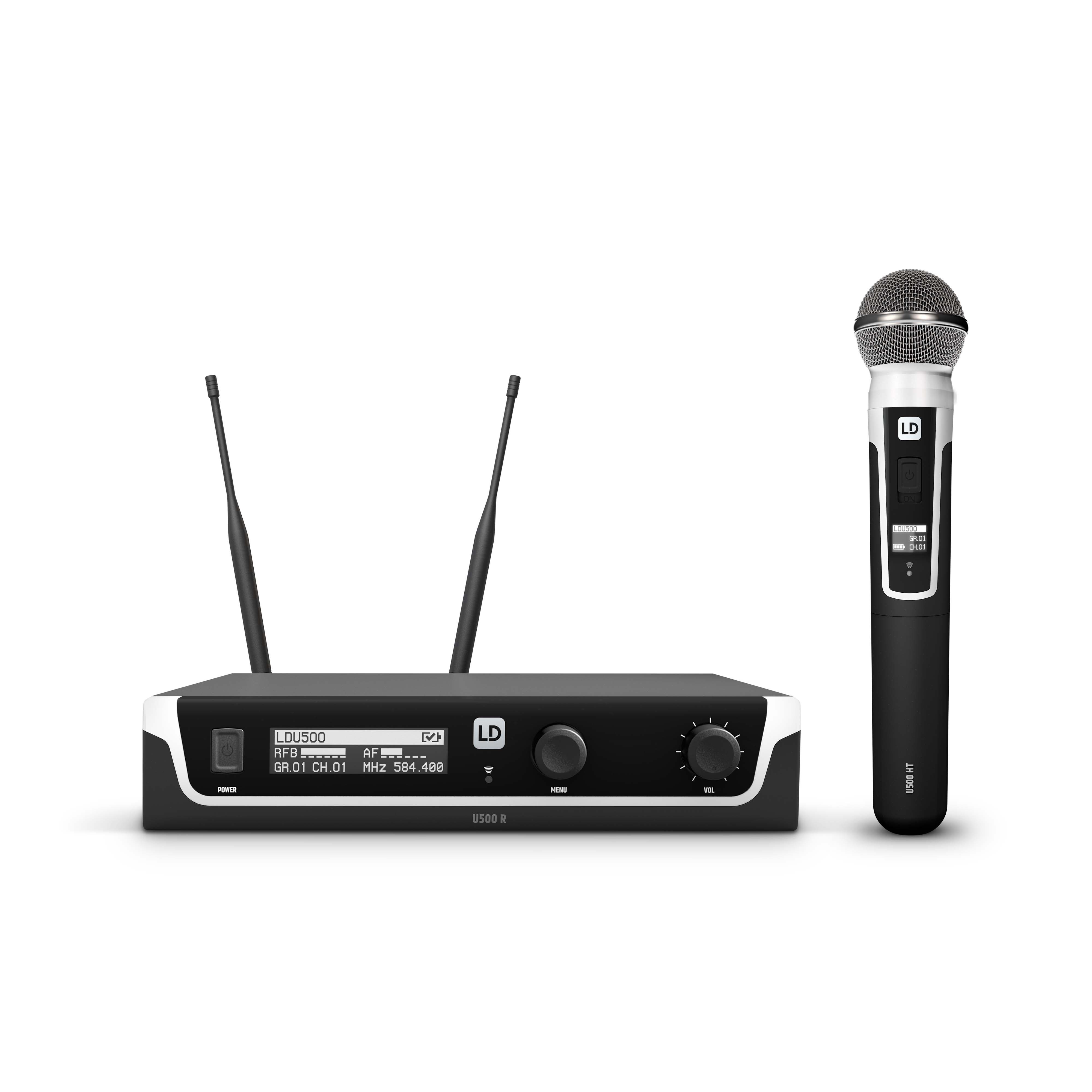 U518 HHD Wireless Microphone System with Dynamic Handheld Microphone