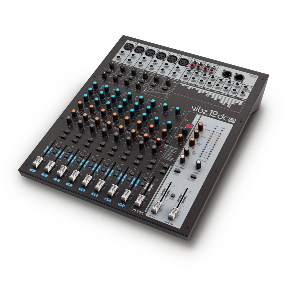 VIBZ 12 DC 12 channel Mixing Console with DFX and Compressor