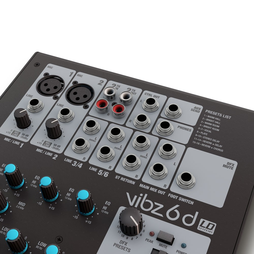 VIBZ 6 D 6 channel Mixing Console with DFX
