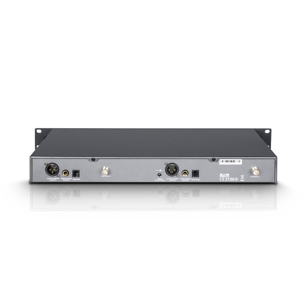 WIN 42 BPHH 2 B 5 Funkmikrofon System mit 2 x Belt Pack und 2 x Headset beigefarben