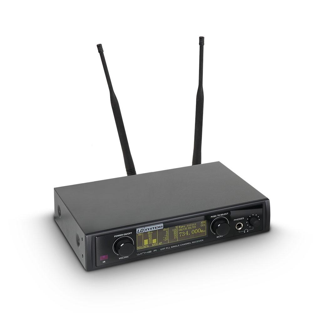 WIN 42 BPL Système de Micro sans Fil avec Émetteur Ceinture et Micro Cravate