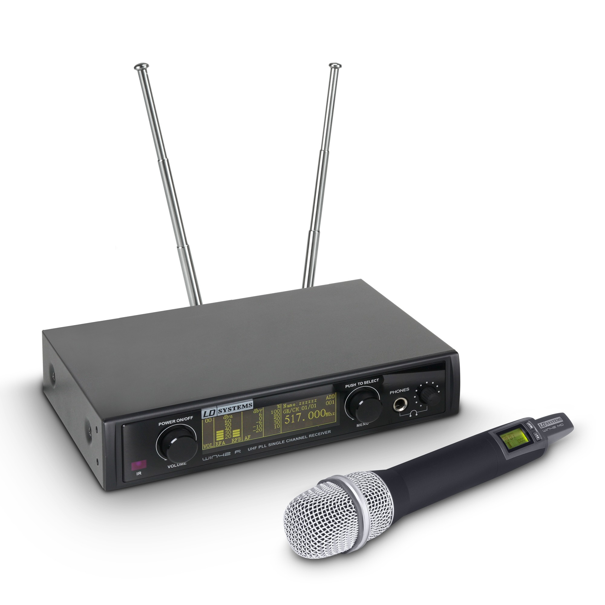 WIN 42 HHC B 5 Wireless Microphone System with Condenser Handheld Microphone