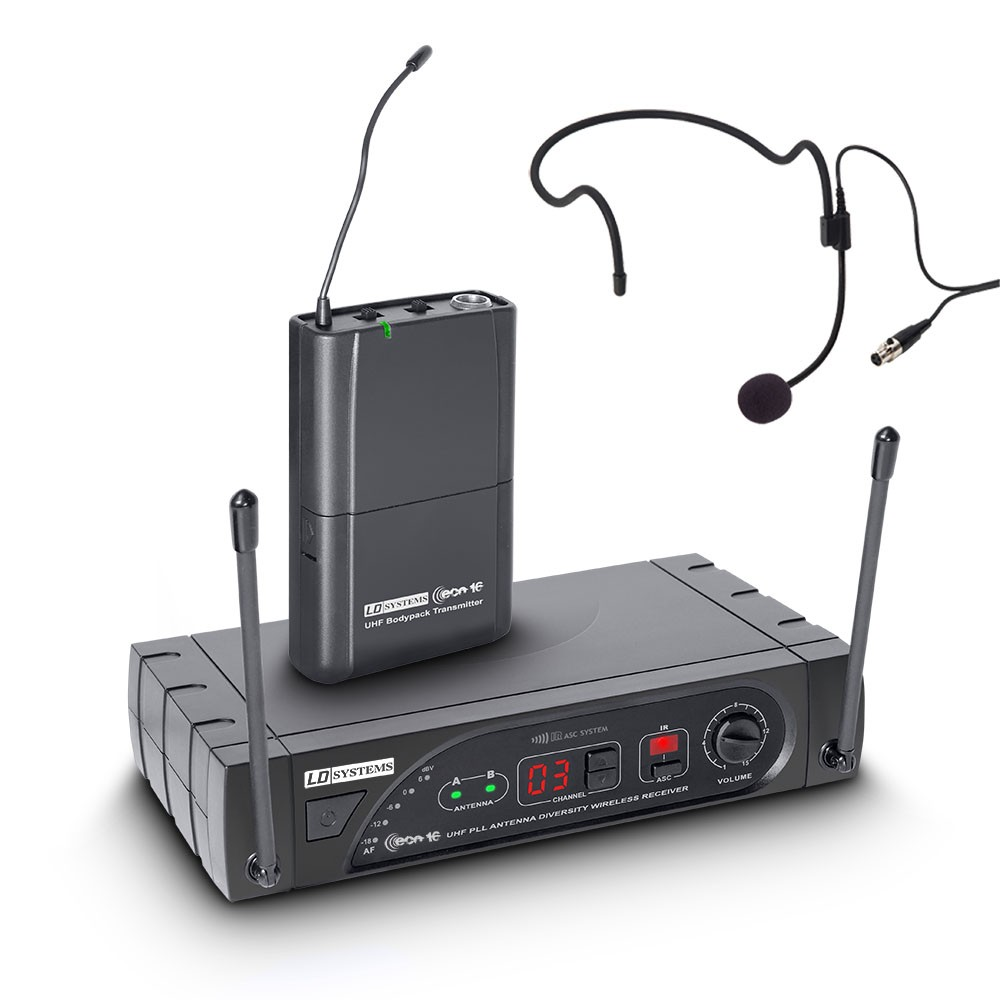 ECO 16 BPH Wireless Microphone System with Belt Pack and Headset 16 Channel