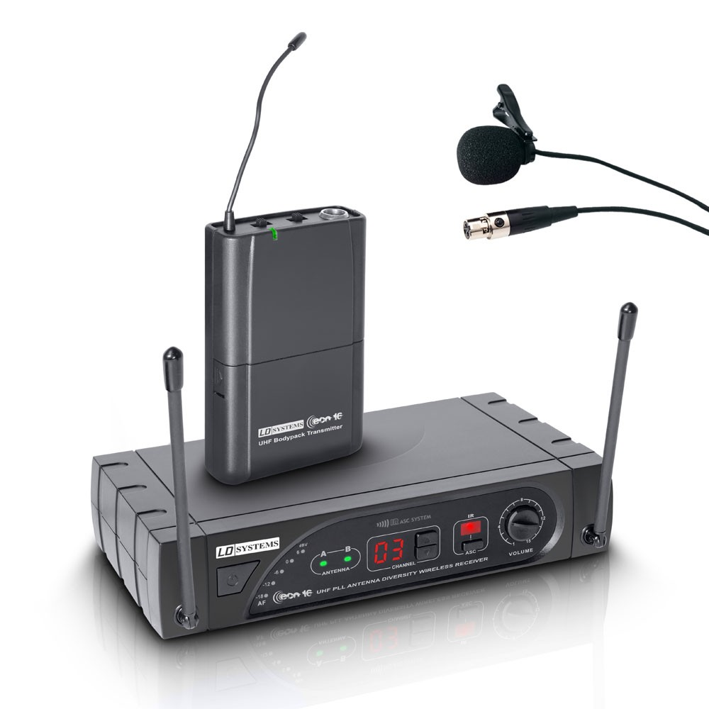 ECO 16 BPL B 6 Wireless Microphone System with Belt Pack and Lavalier Microphone 16 channel band 6 655 - 679 MHz
