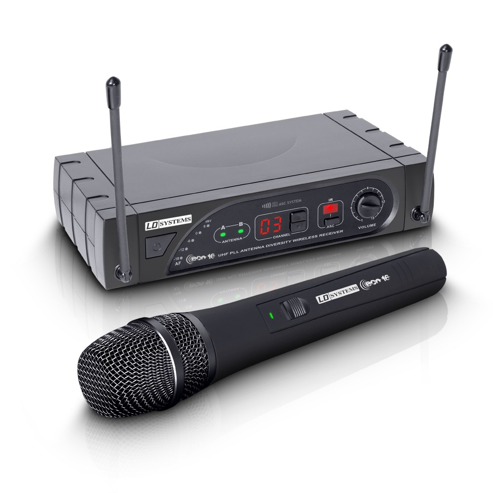 ECO 16 HHD Wireless Microphone System with Dynamic Handheld Microphone 16 Channel