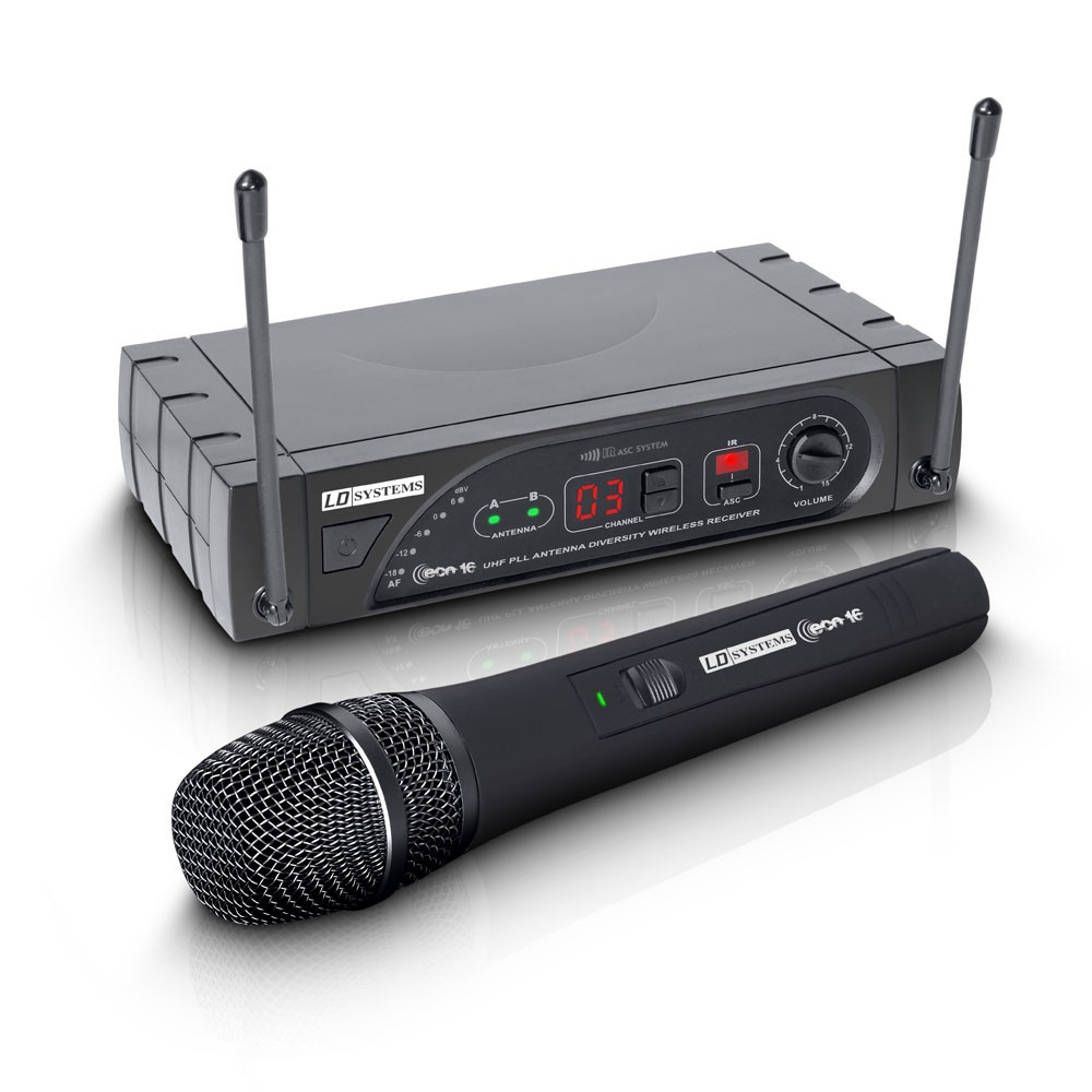 ECO 16 HHD B 5 Wireless Microphone System with Dynamic Handheld Microphone 16 Channel Band  5 584 - 607 MHz