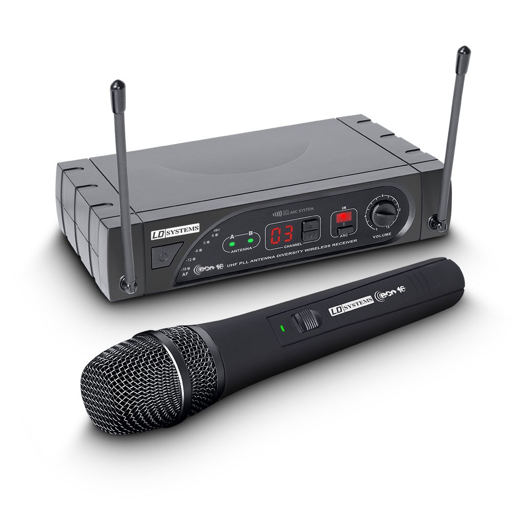 ECO 16 HHD B 6 Wireless Microphone System with Dynamic Handheld Microphone 16 Channel Band 6 655 - 679 MHz