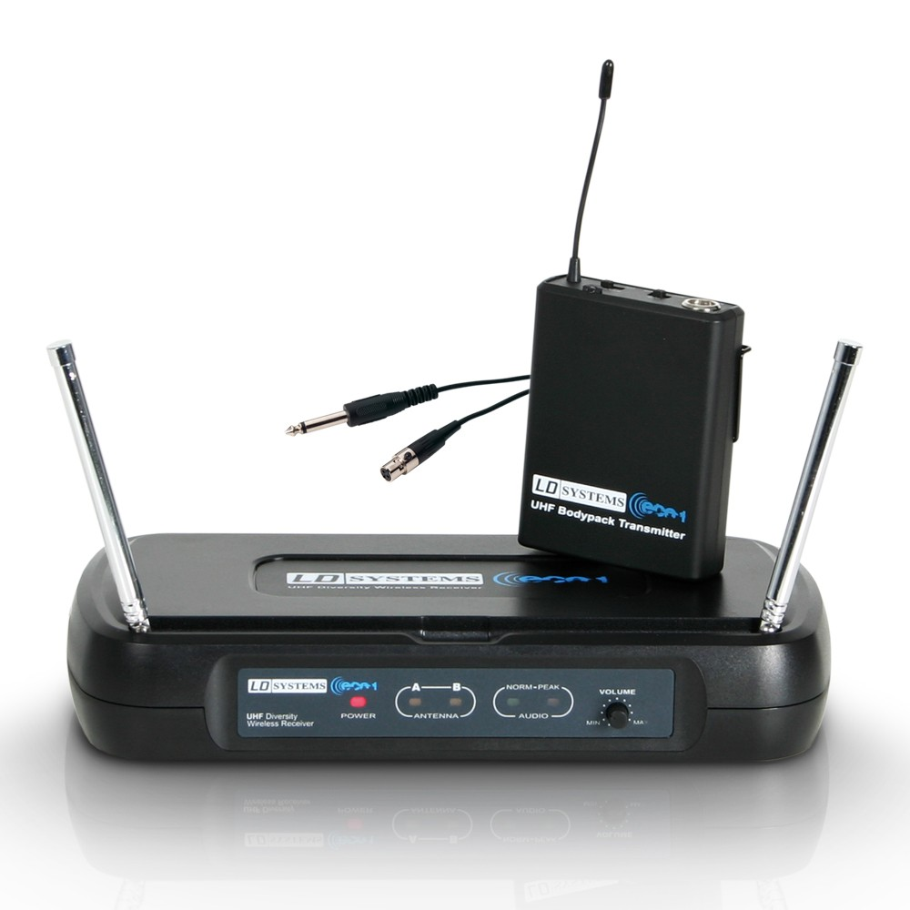 ECO 2 BPG 3 Wireless Microphone System with Belt Pack and Guitar Cable