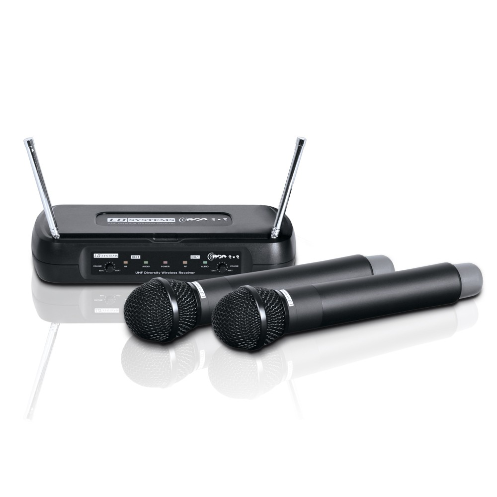 ECO 2X2 HHD 1 Wireless Microphone System with 2 x Dynamic Handheld Microphone