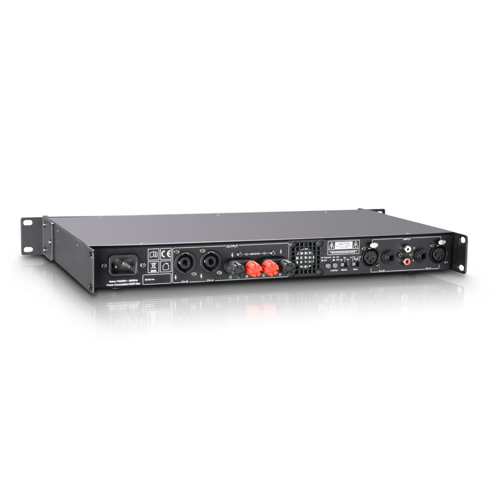 XS 400 PA Power Amplifier Class D 2 x 200 W 4 Ohms