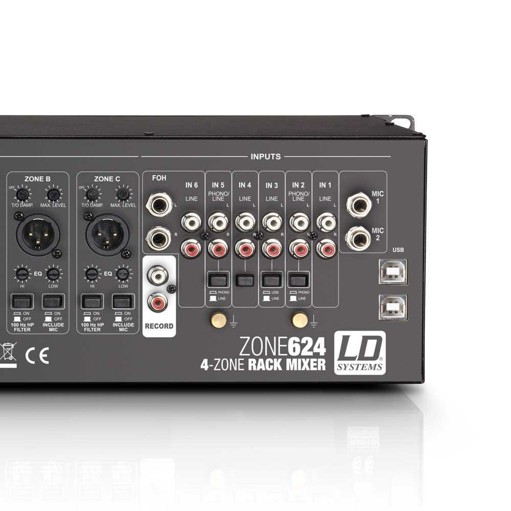 "ZONE 624 19"" 4-Zonen Mixer 3HE"