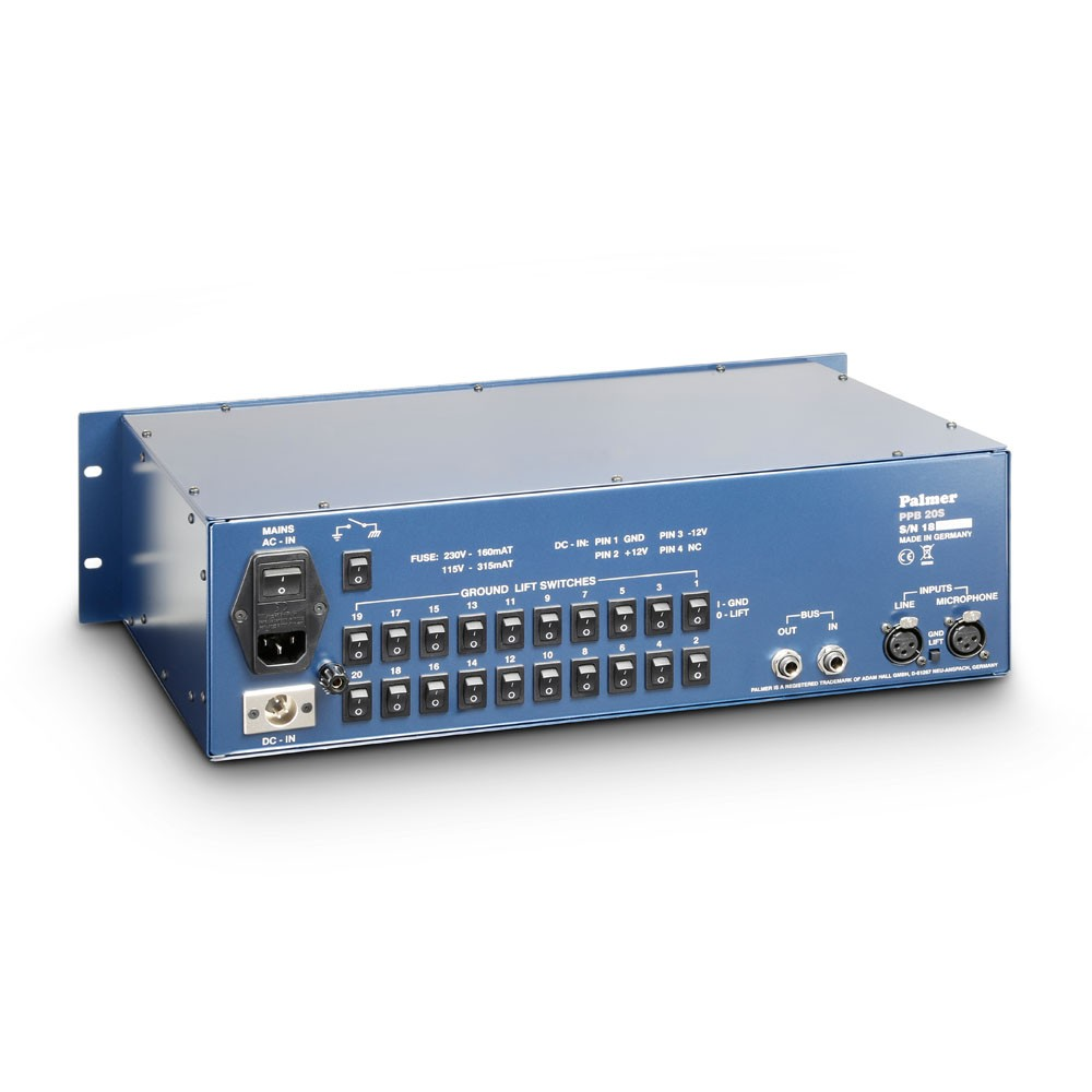 Press Patch Box 20 Stereo Signal Splitters Pa