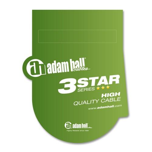Adam Hall Cables K3YWPP0600 S/érie 3 Star C/âble Audio Jack 3,5 mm st/ér/éo vers 2 x Jack 6,35 mm Mono 6 m