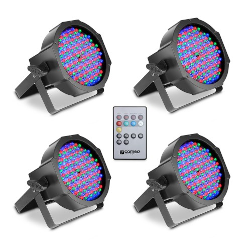 FLAT PAR CAN RGB 10 IR SET