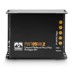 Universal 9V Pedalboard Power Supply 5 Outputs