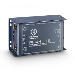 PLI 04 USB - 2-Channel USB DI Box and Line Isolator