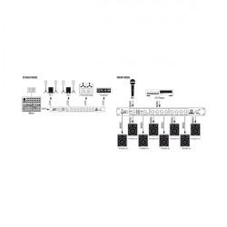 Signal Splitter 2 Inputs 8 Outputs